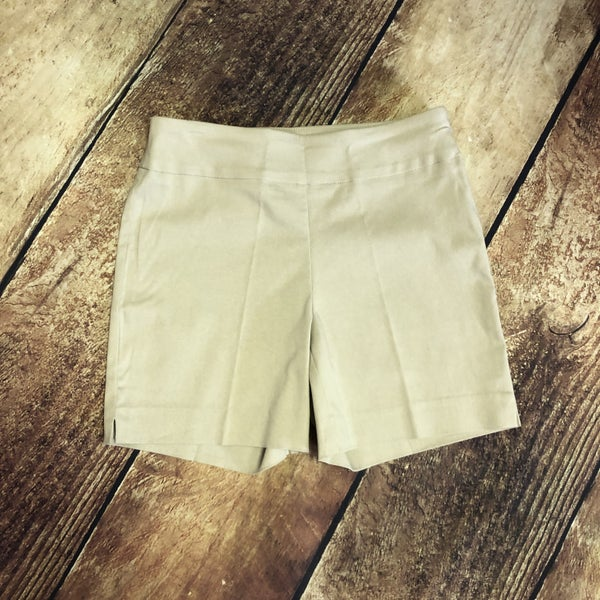 Khaki Solid Millennium Pull on Shorts
