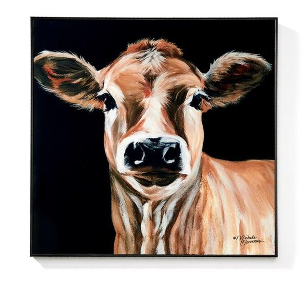 "Cow Wall Art - 19.6"" x 19.6"""