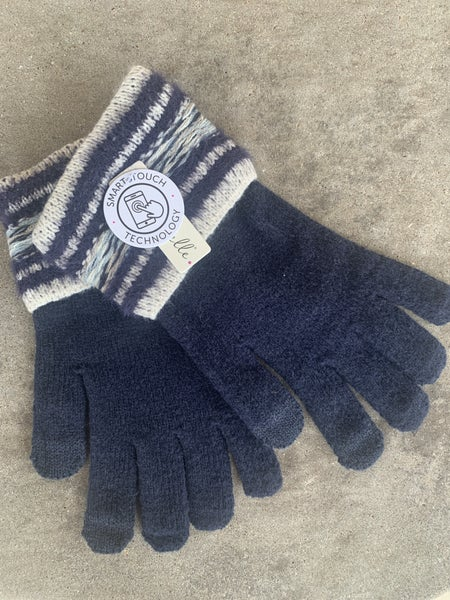 Navy Smart Touch Soft Gloves