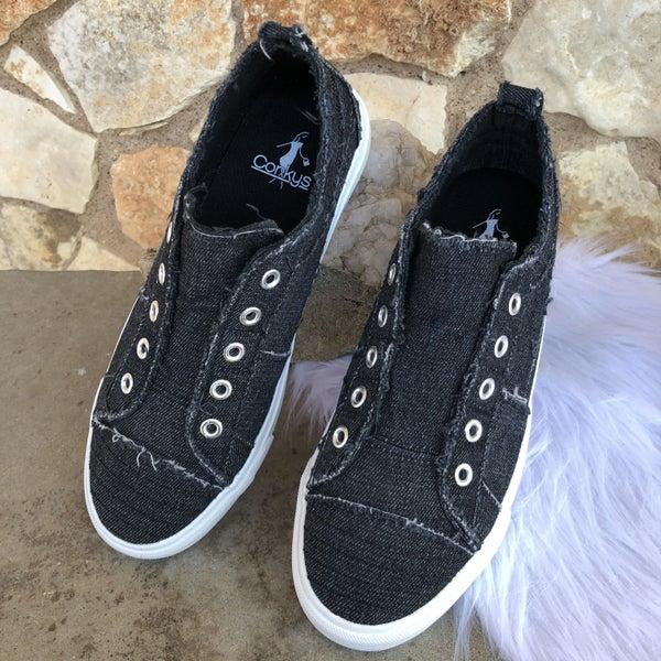 Babalu Black Slip on Sneaker SIZE
