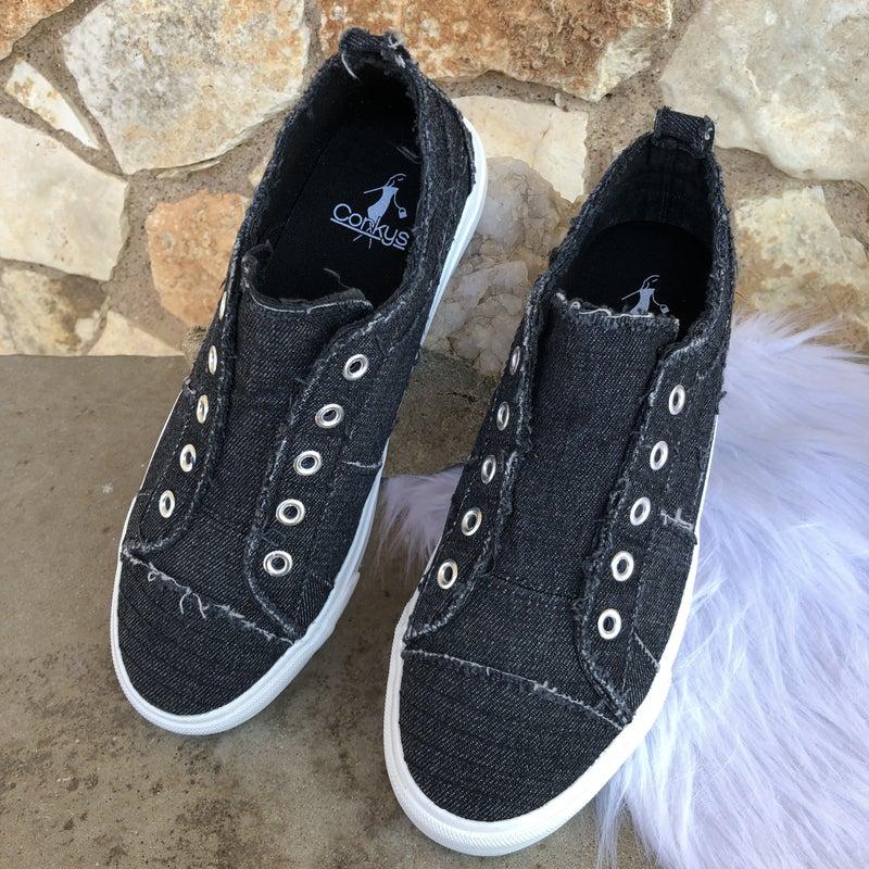 Babalu Black Slip on Sneaker