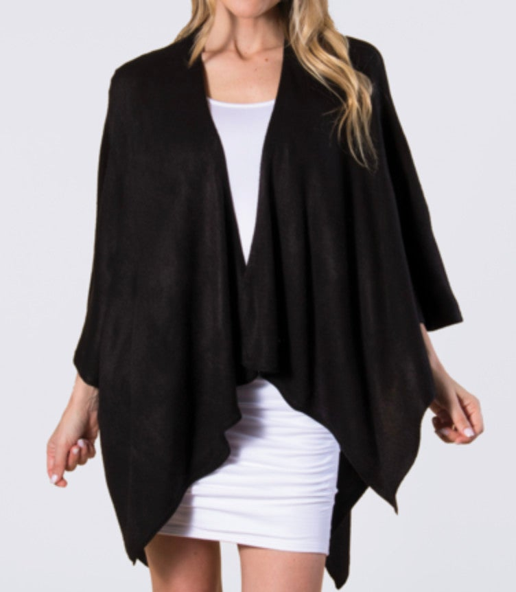 One Size - Black Sweater Wrap