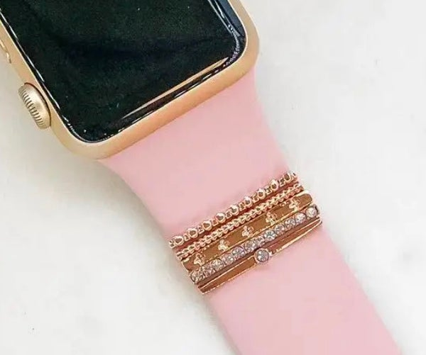 Rose Gold Watch Band Charms