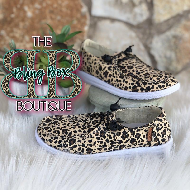 Corkys Kayak Leopard Slip On Tennis Shoes
