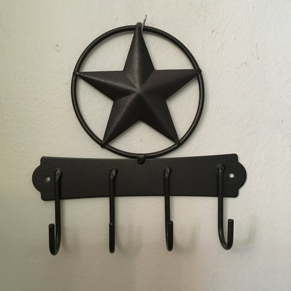 Rustic Texas Star Key Holder