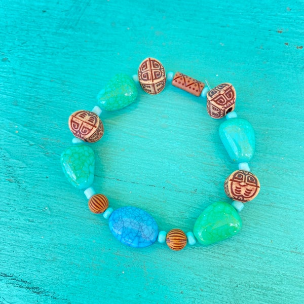 Bonnie Angela Turquoise Stretch Bracelet #3