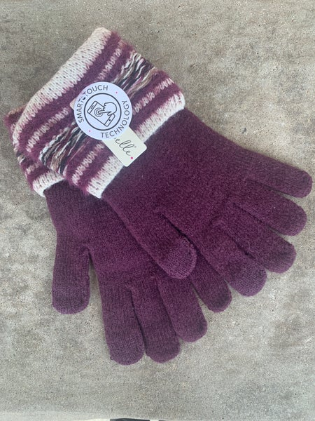 Maroon Smart Touch Soft Gloves