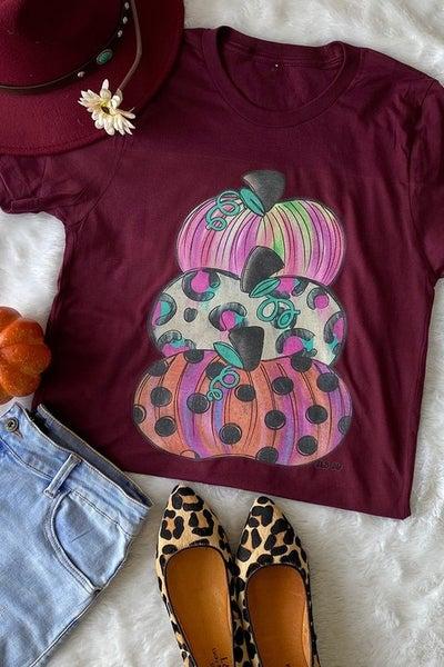 Pumpkin Tower Maroon T-Shirt