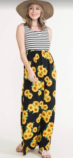Sunflower Sleeveless Striped Maxi Dress