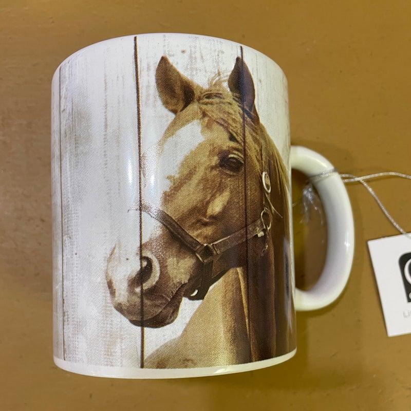 Brown Horse White 16 oz. Mug
