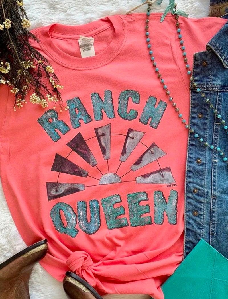 Coral Ranch Queen Windmill T-Shirt