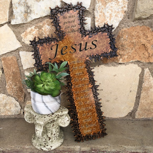Large Jesus Isaiah 53 Thorn Cross
