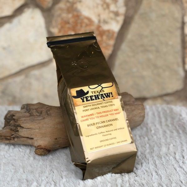 Texas Yeehaw Bold Pecan Caramel Cinnamon Gourmet Ground Coffee