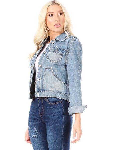 Vintage Jean Jacket with Front Pockets