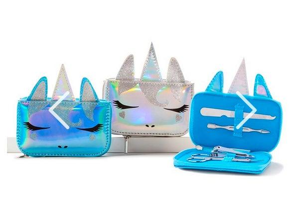 Silver Unicorn Manicure Set