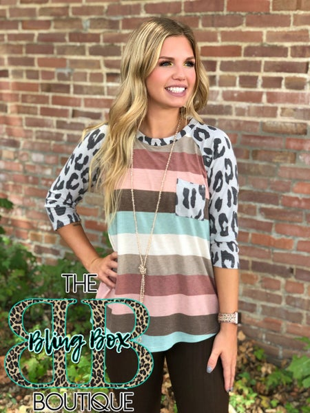 The Coffee House Leopard Top