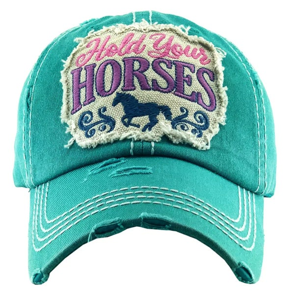 Turquoise Hold Your Horses Hat