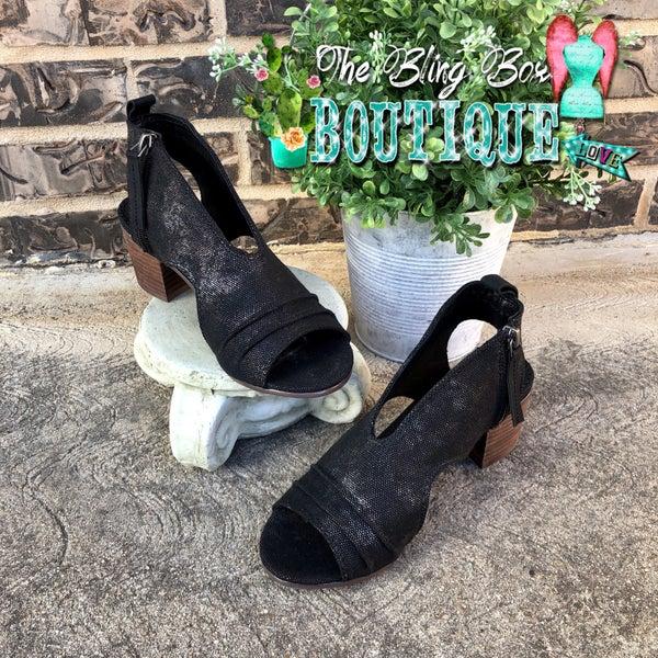 Very G Black Sissy Peep Toe Shoe