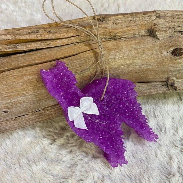 Cowboy Goat Hause Dairy Purple Llama Freshie with white bow