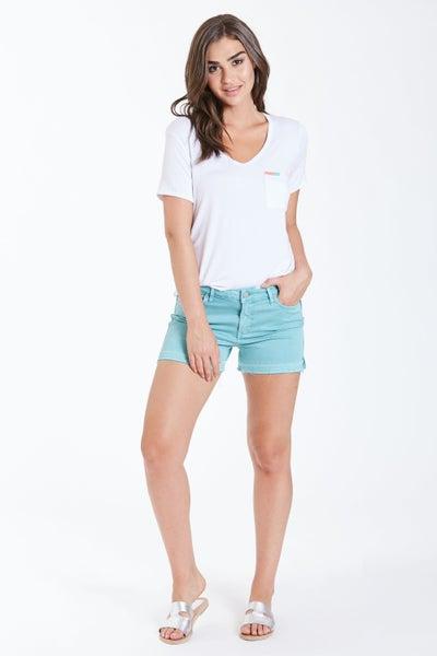 Seafoam Gigi Highrise Shorts SZ 2