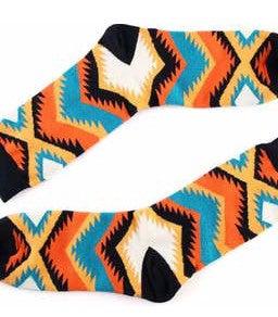 Bright Color Aztec Socks