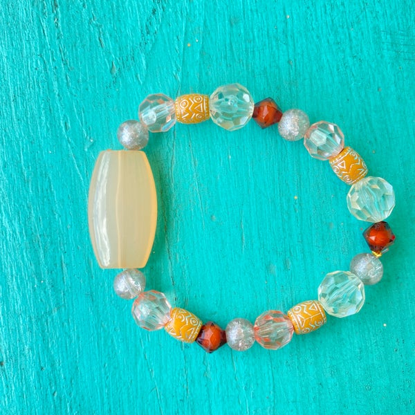 Bonnie Angela Peach Stretch Bracelet #2
