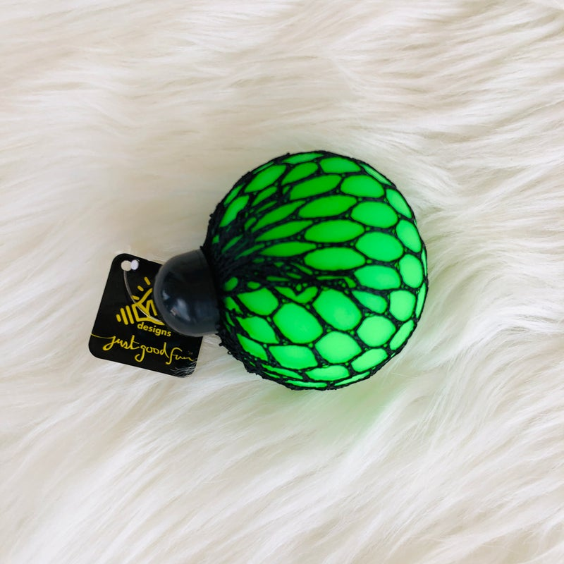 Green & Yellow Squeeze Me Stress Ball