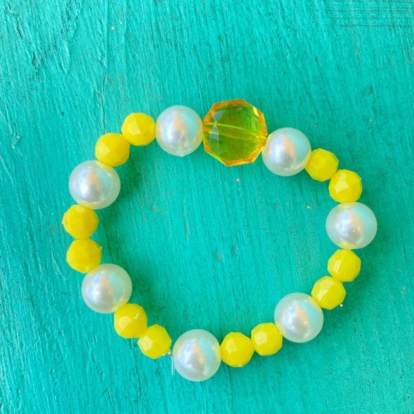 Bonnie Angela Yellow Crystal  Stretch Bracelet #2