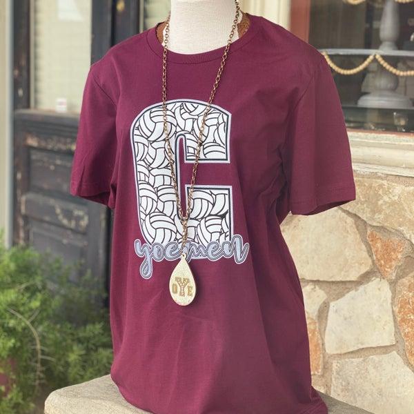 Cameron Yoemen Volleyball Maroon T-Shirt
