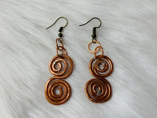 Custom Copper Swirl Earrings