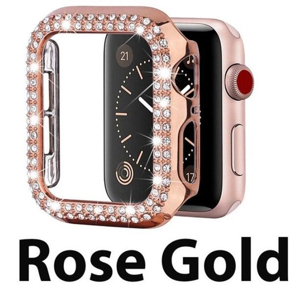 Rose Gold 42 mm Rhinestone Crystal Bling Apple Watch Case