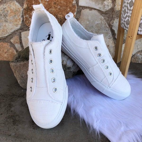 Babalu White Slip on Sneaker SIZE