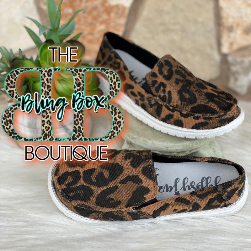 Gypsy Jazz Sami Tan Leopard Slip On Shoe