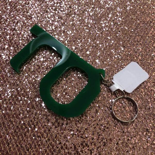 ATM Pin Pad Door Hook Keychain - Green