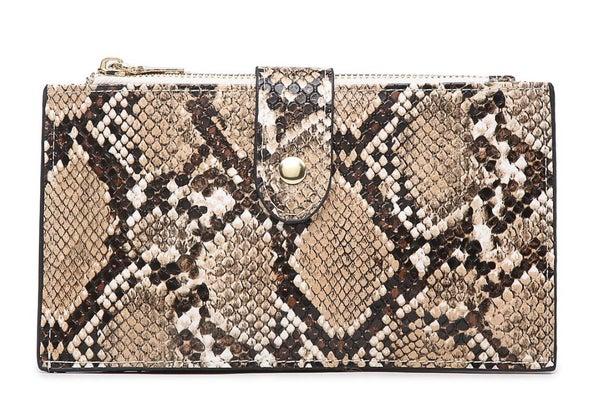 Snake Skin Odelia RFID Two Compartment Vegan Wallet