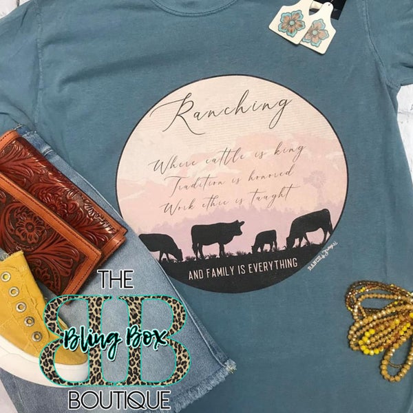 Ranching Where Cattle is King T-Shirt