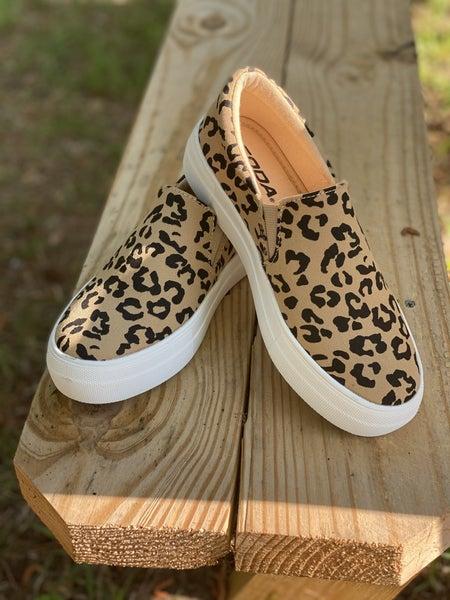 Bobcat Tan Slip On Sneakers