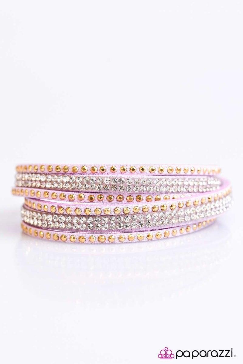 Stop, Drop, and Sparkle - Purple Bracelet