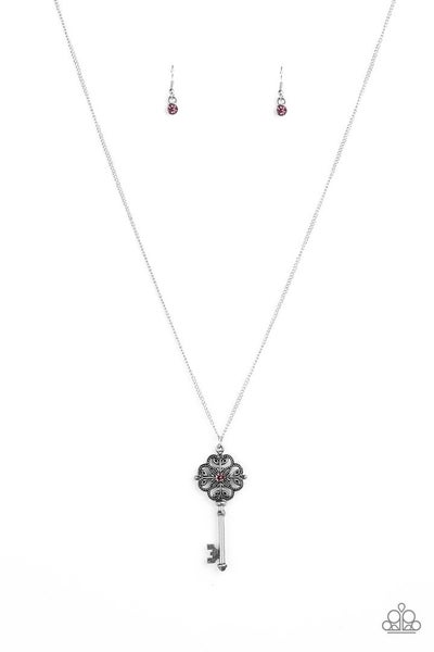 Paparazzi Got It On Lock - Purple Necklace