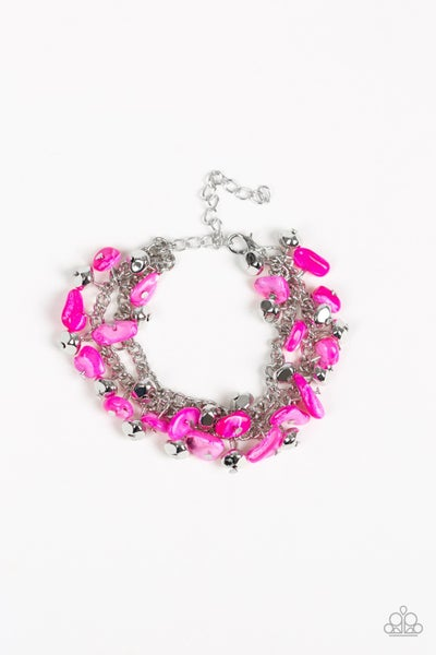 Plentiful Pebbles - Pink Bracelet