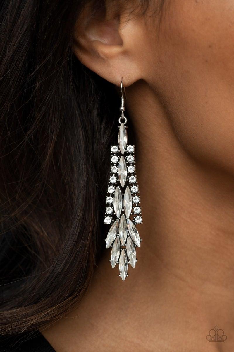 Crown Heiress - White Earring
