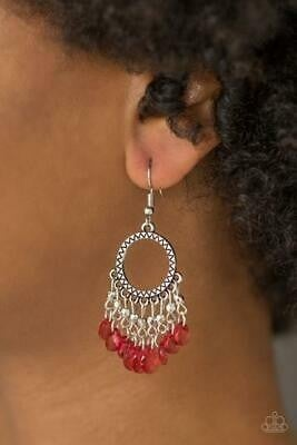 Paradise Palace - Red Earring
