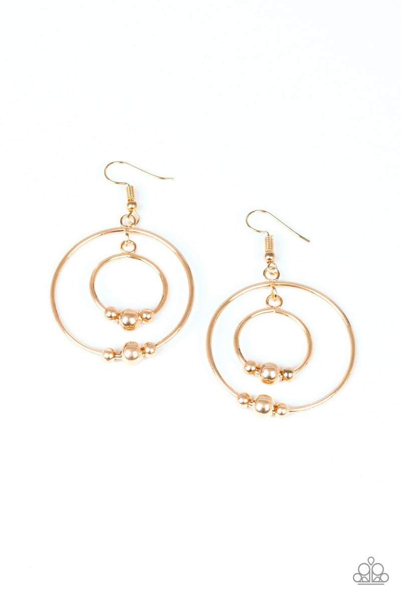 Center of Attraction - Gold Earring