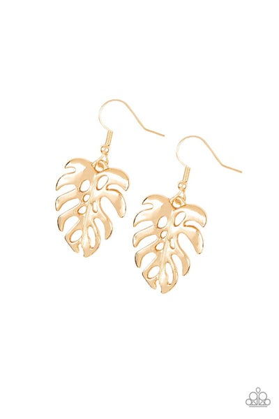 Desert Palms - Gold Earrings