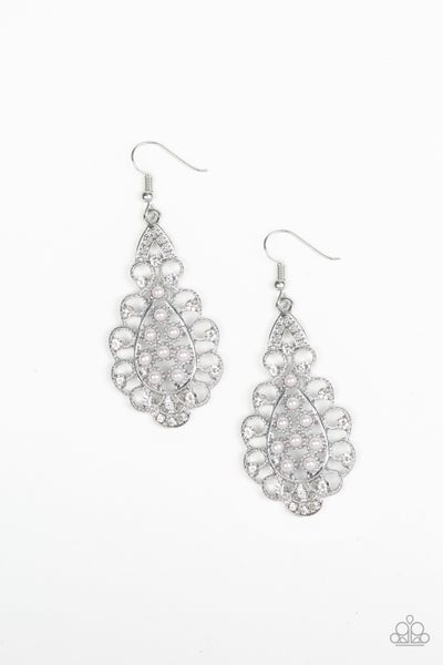 Sprinkle On The Sparkle - White Earring