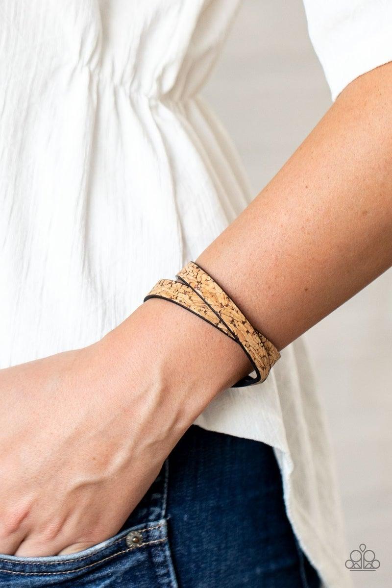 Space Warp - Copper Wrap Bracelet