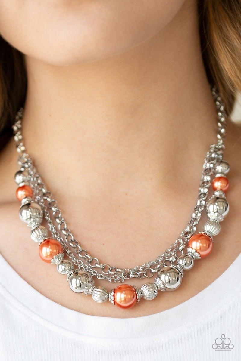 5th Avenue Romance - Orange Necklace
