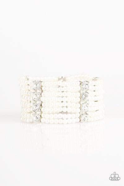 Get In Line - White Bracelet
