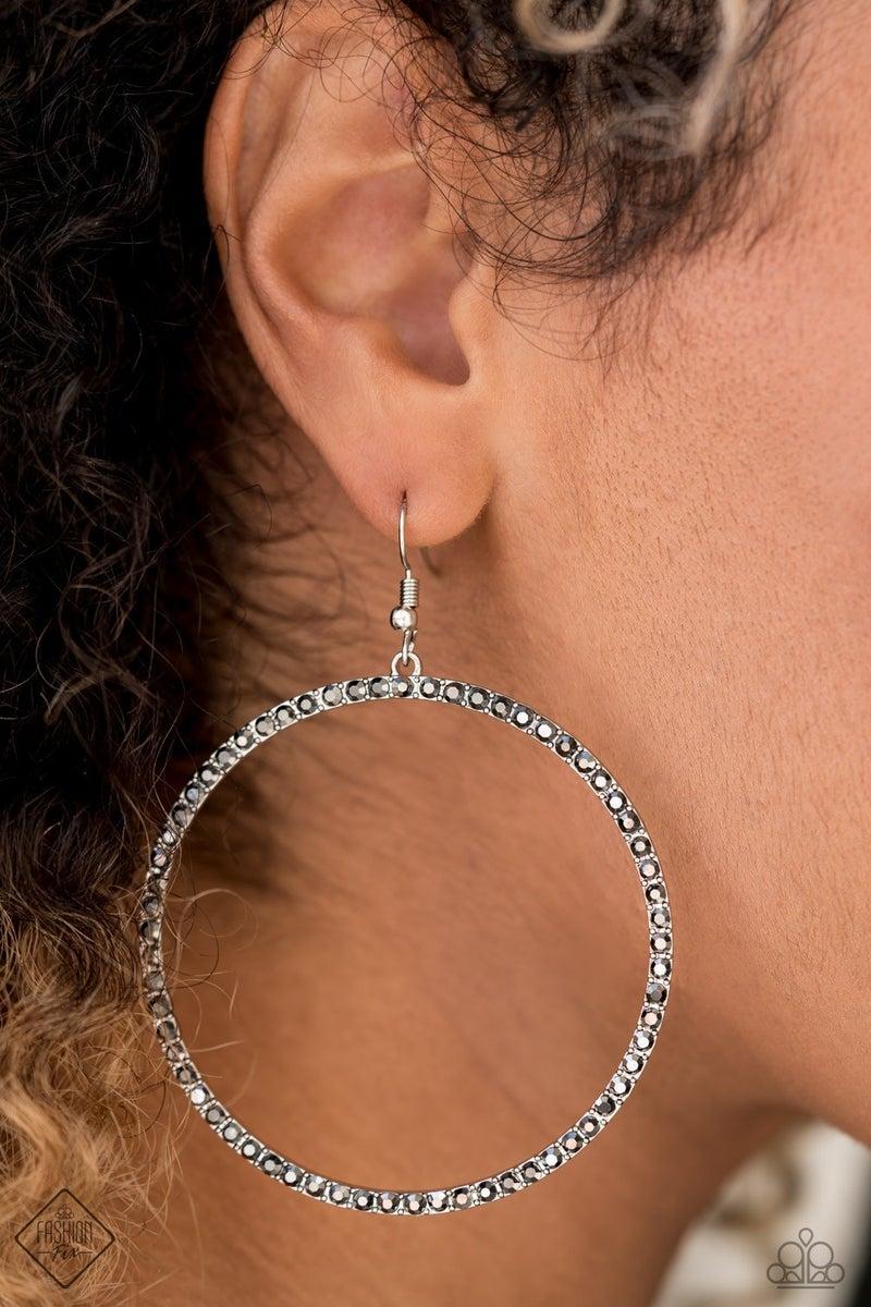Wide Curves Ahead - Silver Earring
