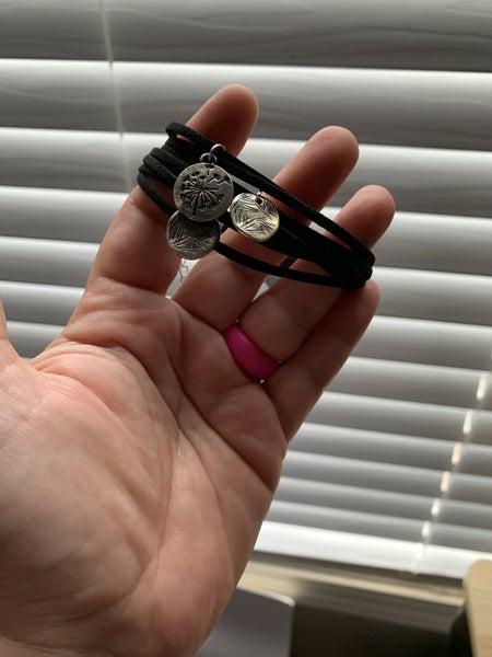 Vintage Black Dandilion bracelet